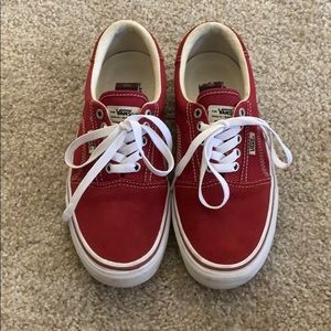 Red Vans Rowley Shoes